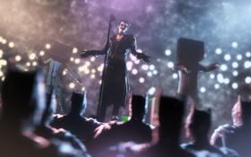 Картинка микрофон, art, Joker, Batman: Arkham Origins