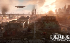 Обои город, война, разрушение, war, Homefront, The Revolution