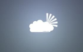 Обои надпись, облака, солнце, арт, лучи, креатив, вектор