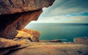 Картинка море, камни, скалы, побережье