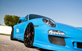 Обои cars, supercars, Blue, Porshe GT3 RS, auto, cars wall, обои авто