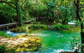 Обои река, фото, природа, Хорватия, Krka, парк