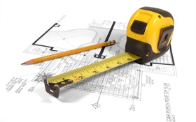 Обои макет, чертеж, линейка, рулетка, метр, ремонт, карандаш