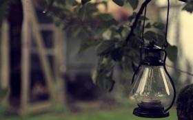 Картинка стекло, лампа, свеча, фонарь, свечник
