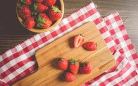 Обои клубника, ягода, красные