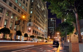 Обои san francisco, night, california, калифорния