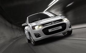 Картинка фон, настроение, обои, скорость, белая, автомобиль, Lada