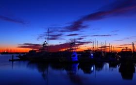 Картинка пейзаж, небо, фото, вечер, вода, цвета, лодки