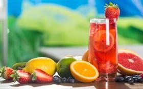 Обои ягоды, сок, фрукты, fresh, fruits, berries