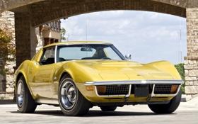 Обои car, Corvette, Chevrolet, auto, 1970, wallpapers, classic