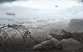 Обои океан, война, солдаты, war, Company of Heroes