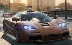 Картинка машина, свет, фары, 2012, McLaren F1, Need for speed, Most wanted