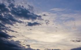 Картинка небо, облака, закат, тучи, вечер