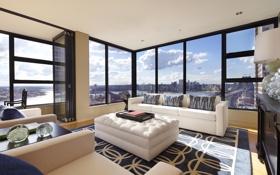 Обои дизайн, жилая комната, дом, интерьер, Sydney, стиль
