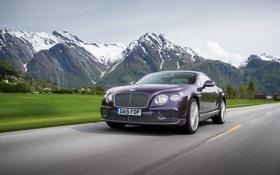 Обои Bentley, Continental, бентли, континенталь, 2015