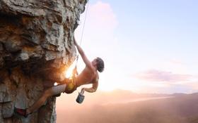 Обои climber, climb, sun