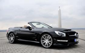 Обои Mercedes-Benz, Черный, Колеса, кабриолет, Brabus, AMG, SL65