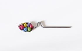 Картинка фон, конфеты, ложка