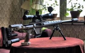 Обои sniper rifle, стол, оружие
