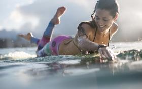 Картинка девушка, серфинг, спорт