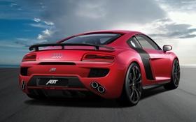 Обои машина, красный, Audi, задок, ABT, V10