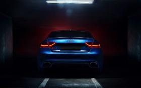 Обои Audi, Blue, Glow, RS5, Coupe, Tuning, Garage