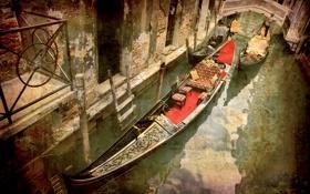 Картинка Italy, Венеция, канал, гондола, город, city, Италия