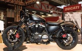 Картинка дизайн, выставка, мотоцикл, Harley Davidson