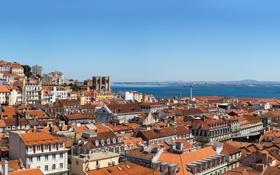 Картинка здания, дома, крыши, панорама, Португалия, Лиссабон, Portugal