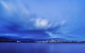 Обои Облака, город, пасмурно