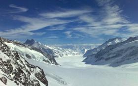 Картинка снег, горы, скалы, вершины