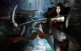 Обои Sura Online, Ведьма, Коса