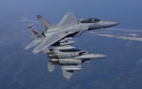 Обои истребители, пара, полёт, F/A-18, Hornet, McDonnell Douglas