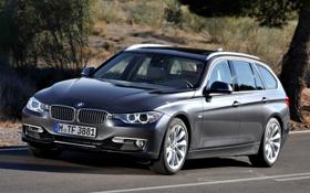 Картинка дорога, BMW, БМВ, передок, универсал, 3 Series, Touring