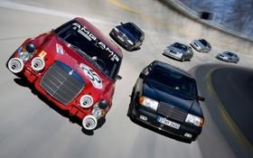 Обои машины, гонка, трасса, Mercedes, мерсы