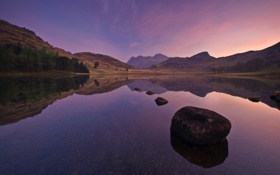 Картинка камни, фото, камень, вода, озеро, пейзажи, озёра