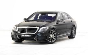 Обои черный, Mercedes-Benz, Brabus, седан, мерседес, Hybrid, брабус