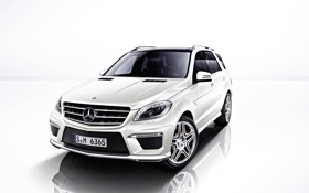 Картинка белый, Мерседес, джип, Mercedes, AMG, ML 6.3 AMG