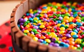 Обои сладость, драже, конфеты