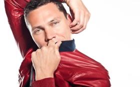 Обои красный, музыка, клуб, куртка, Тиесто, Диджей