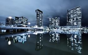 Обои ночь, город, Melbourne