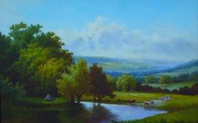 Картинка пейзажи, рисунок, картина, арт, рисунки, картины, классика