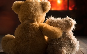 Обои friends, love, toy, couple, bear, cute, любовь