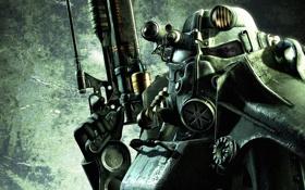 Обои оружие, костюм, fallout, железный