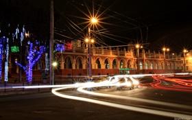 Обои машины, город, Площадь, Россия, Russia, Калуга, Kaluga