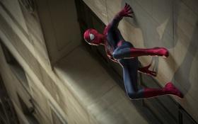 Обои стена, здания, паук, Новый Человек-паук 2, The Amazing Spider-Man 2