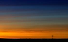 Обои небо, пейзаж, закат