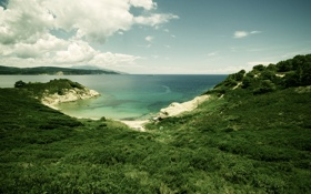 Обои море, побережье, пейзажи, вид, горизонт, простор, landscape