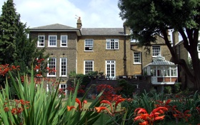Обои дизайн, дом, стиль, вилла, сад, архитектура, экстерьер