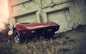 Картинка Corvette, мускул, красный, Chevrolet